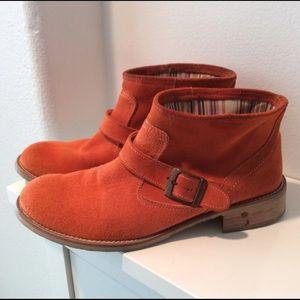 Shoes - Vera pelle ITALIAN Suede BOOTIES Orange